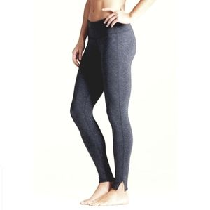 Athleta Chaturanga Tights Slit Hem in Black